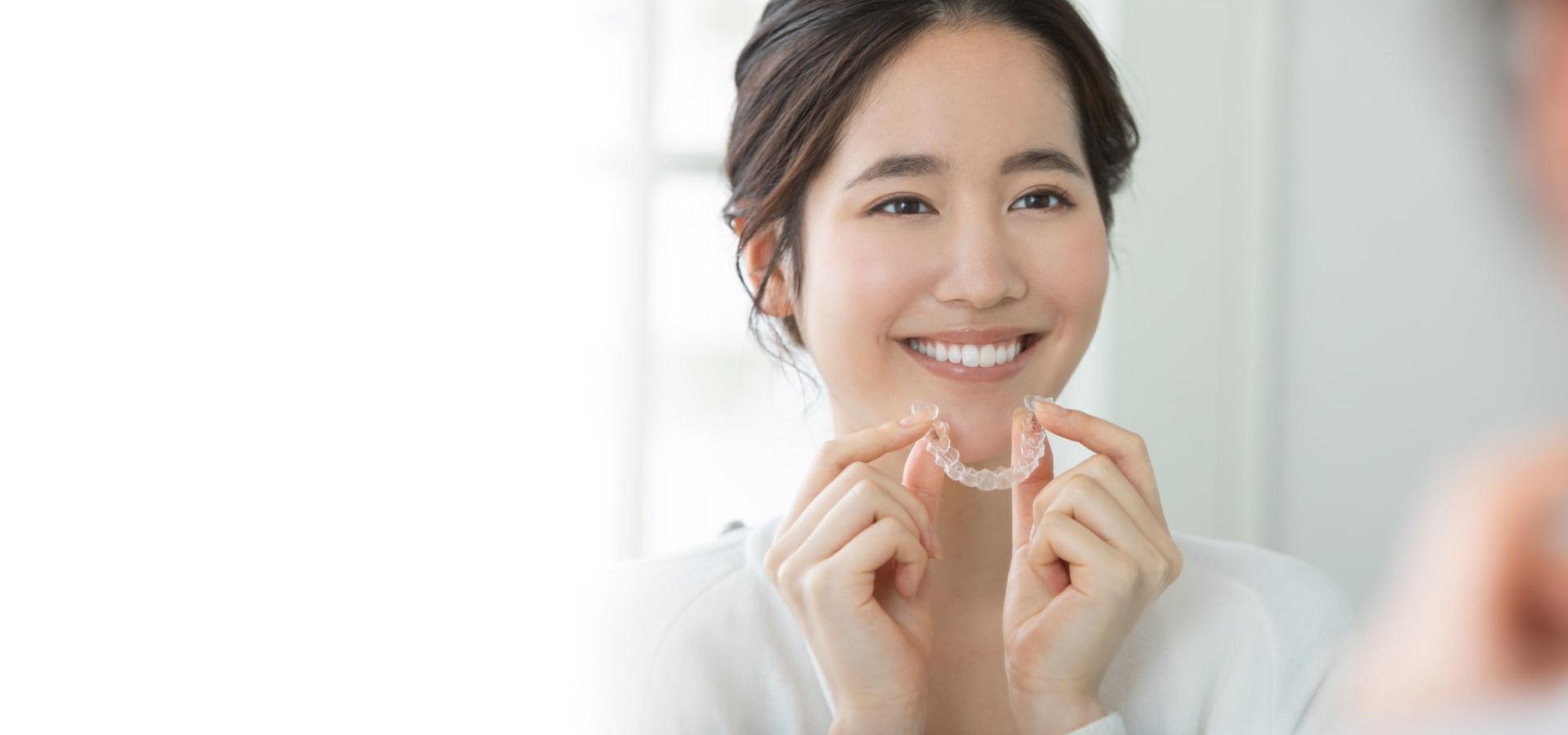 目立たず痛くない口腔内に優しい矯正治療インビザライン